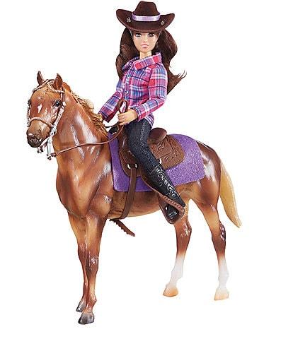 Breyer Western Horse & Rider Figurine