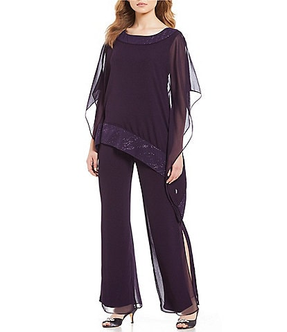 Le Bos 2-Piece Glitter Trim Pant Set