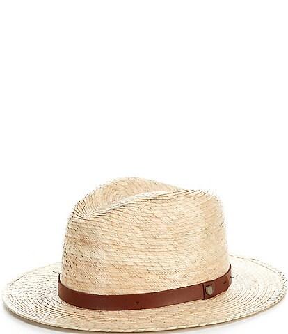 Brixton Messer Straw Fedora Hat