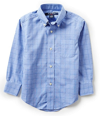Brooks Brothers Little/Big Boys 4-20 Glen Plaid Dress Shirt