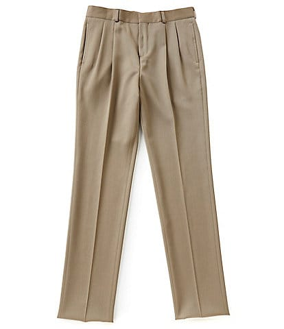 3c7e918b0d8 Brooks Brothers Big Boys 14-20 Gabardine Pleated Suit Trouser Pants