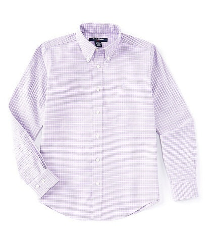 Brooks Brothers Little/Big Boys 4-20 Long-Sleeve Oxford Gingham Non-Iron Sport Shirt