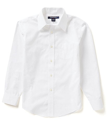 Brooks Brothers Little/Big Boys 4-20 Mini Oxford Non-Iron Point Collar Dress Shirt