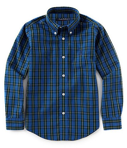 Brooks Brothers Little/Big Boys 4-20 Non-Iron Double Plaid Button-Down Sportshirt