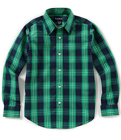 Brooks Brothers Little/Big Boys 4-20 Outlined Plaid Non-Iron Woven Sportshirt