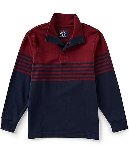 Brooks Brothers Little/Big Boys 4-20 Rugby Knit Mock-Neck Long-Sleeve Shirt