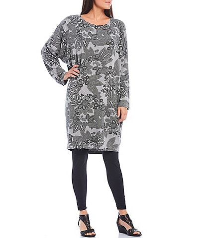 Bryn Walker Alanna French Terry Floral Print Cocoon Tunic
