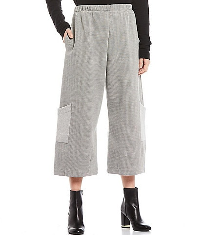 Bryn Walker Casbah Houndstooth Cropped Pants