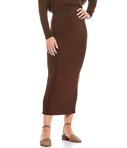 Bryn Walker French Terry Full Length Slim Skirt