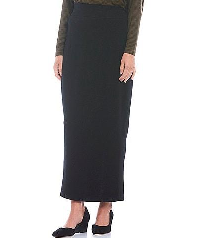 Bryn Walker French Terry Knit Long Pencil Skirt