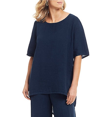 Bryn Walker Lilo Short Sleeve Hi-Low Tunic