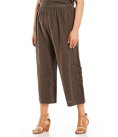 Bryn Walker Plus Size Casbah Wide Cropped Pants