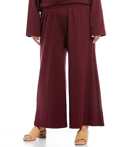 Bryn Walker Plus Size Eli Ponte Wide Leg Pull-On Crop Pant