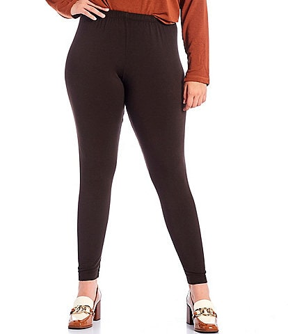 Bryn Walker Plus Size French Terry High-Rise Pull-On Skinny Knit Leggings