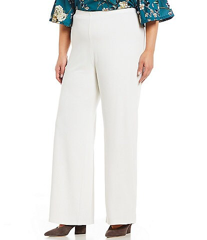 Bryn Walker Plus Size Wide Leg Modal Ponti Pull-On Palazzo Pants