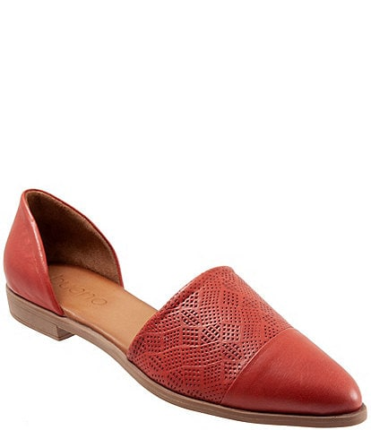 Bueno Bella Perforated Leather d'Orsay Flats
