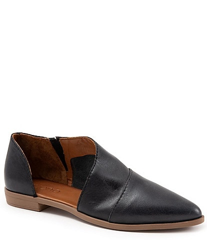 Bueno Blake Open Leather Slip Ons