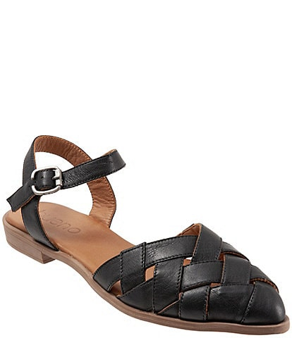 Bueno Bliss Woven Leather Huarache Sandals