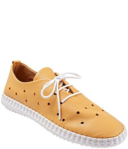 Bueno Dallas Perforated Leather Sneakers