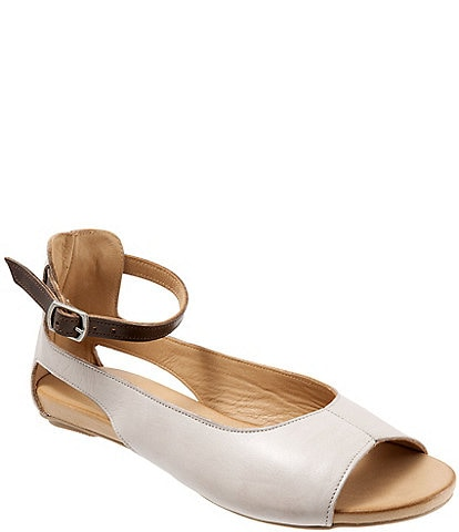 Bueno Donna Ankle Strap Open toe Flats