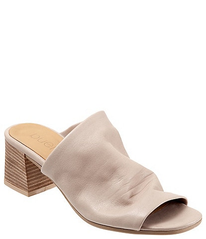 Bueno Emersyn Leather Block Heel Slides
