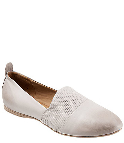 Bueno Katy Perforated Leather Slip Ons