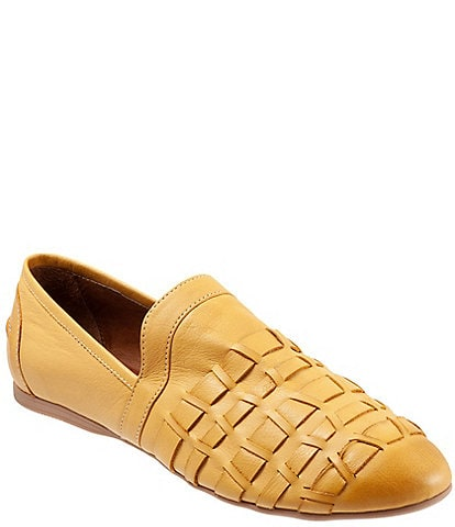 Bueno Kristy Woven Leather Slip-On Flats