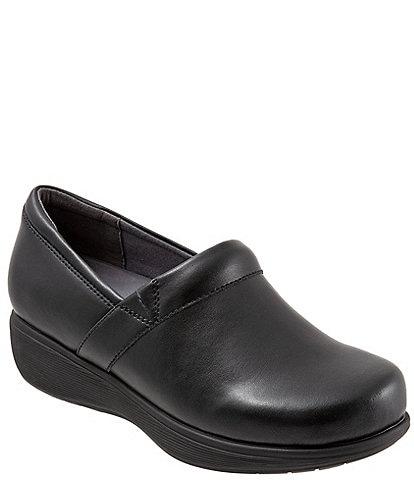 SoftWalk Meredith Sport Leather Slip-On Clogs