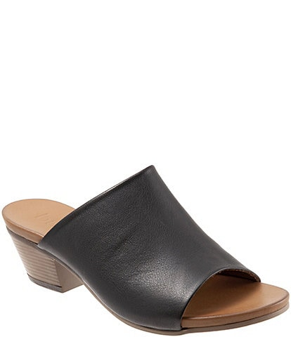 Bueno Simone Leather Block Heel Slide Sandals