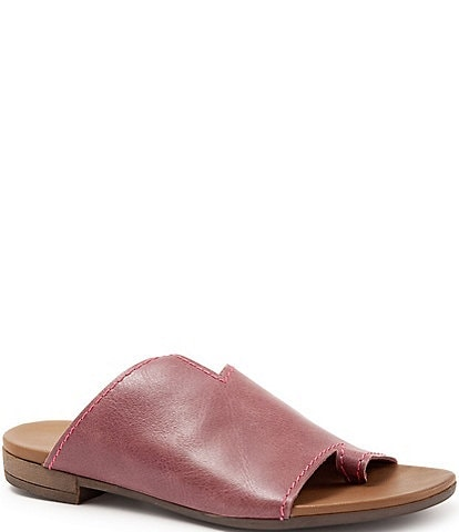 Bueno Tulla Toe Post Leather Slide Sandals