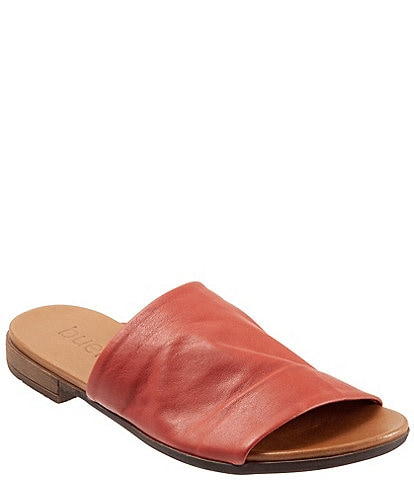 Bueno Turner Leather Block Heel Slides