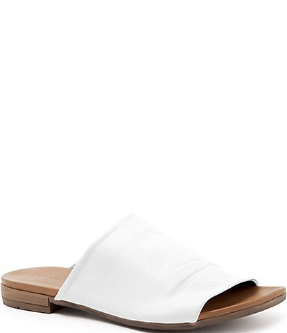 Bueno Turner Leather Block Heel Slides