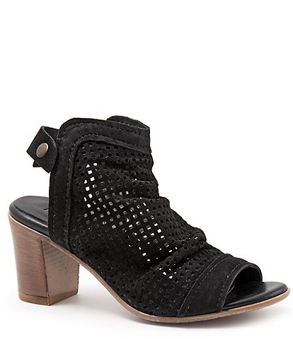 Bueno Udo Perforated Suede Slingback Sandals