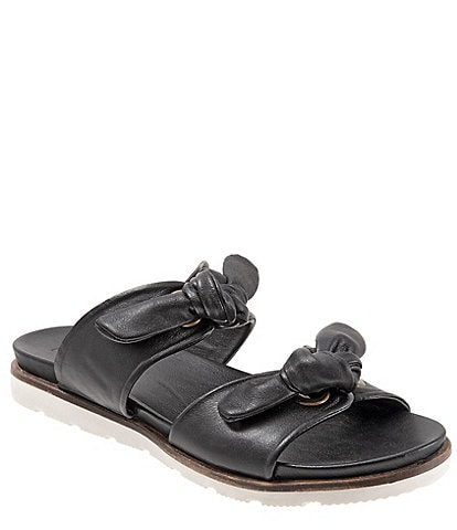 Bueno Yasi Leather Bow Slide Sandals