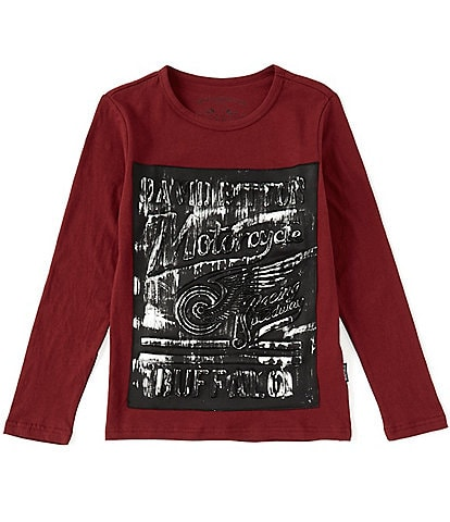 Buffalo David Bitton Big Boys 8-20 Long-Sleeve Embossed Graphic Tee