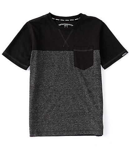 Buffalo David Bitton Big Boys 8-20 Short-Sleeve Colorblock Logo Tee