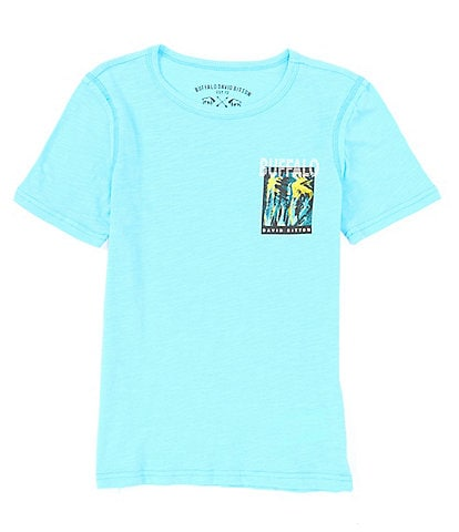 Buffalo David Bitton Big Boys 8-20 Short-Sleeve Inside Out Logo Graphic Tee