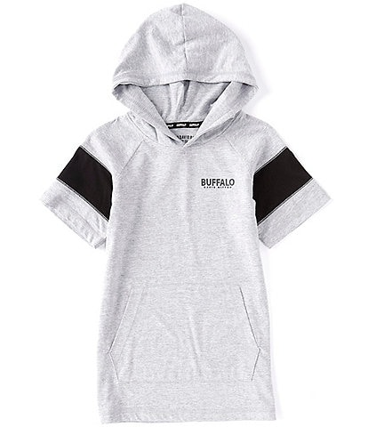 Buffalo David Bitton Big Boys 8-20 Short-Sleeve Raglan Hooded Tee