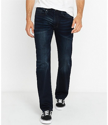 Buffalo David Bitton Driven-x Dark Wash Relaxed Straight Jeans