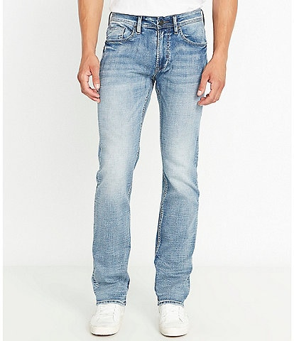 Buffalo David Bitton Driven-X Light Wash Relaxed Straight Jeans