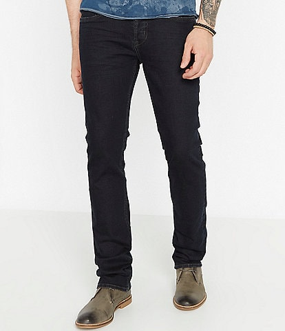 Buffalo David Bitton Evan-X Slim Straight Dark Wash Low-Rise Jeans