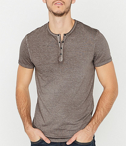 Buffalo David Bitton Kasum Short-Sleeve Burnout Henley