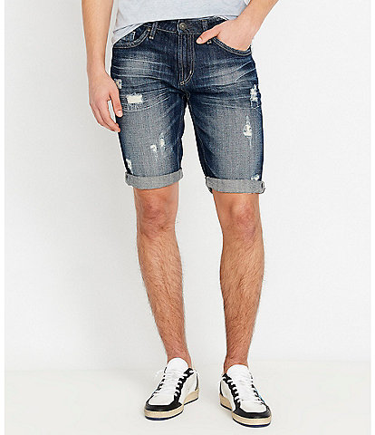 Buffalo David Bitton Parker-X 9#double; Inseam Denim Jean Shorts