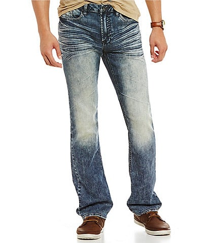 Buffalo David Bitton Six-X Slim Wiskering Straight Jeans