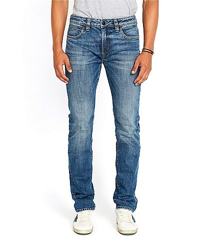 Buffalo David Bitton Six Straight Fit Medium Wash Jeans
