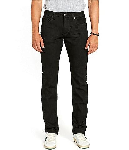 Buffalo David Bitton Black Story Collection Straight Leg Six Jeans