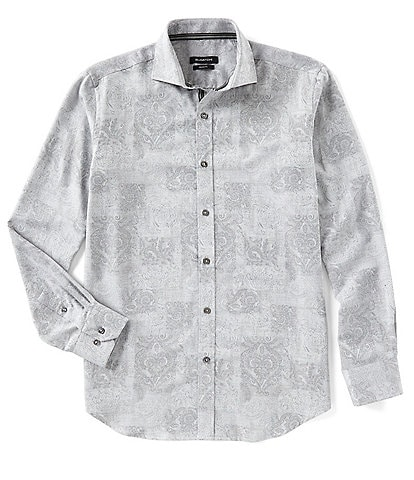 Bugatchi Paisley Print Long-Sleeve Woven Shirt