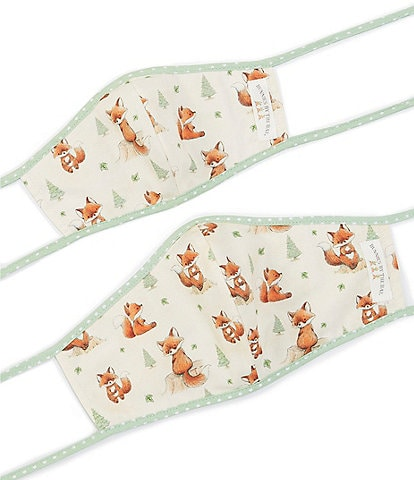 Bunnies By The Bay Mommy & Me Foxy the Fox Adjustable Cloth Face Masks Set