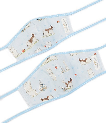 Bunnies By The Bay Mommy & Me Skipit the Pup Adjustable Cloth Face Masks Set