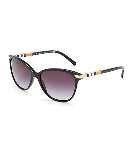 Burberry Heritage Color Block Square Check Cat Eye Sunglasses